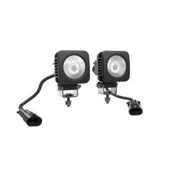 5 CM FIRKANTEDE LED-LYS (2 X 10 WATT)